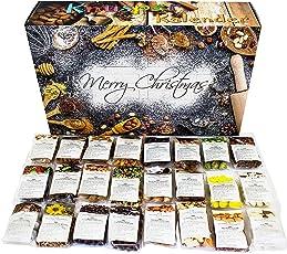 C&T Knusperkalender 2018 - Adventskalender - 24 leckere Knabbereien für den Advent mit 24 Mischungen aus Mandeln, Cranberries, Erdnüssen, und anderen Snacks