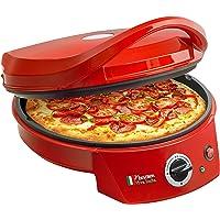 Bestron APZ400 Pizzabäcker Tischgrill mit Bratpfanne