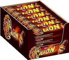 Nestlé LION Schokoriegel mit Karamell, bissiger Snack, knackige Schokolade & knusprige Crisps, Karamellfüllung, das...