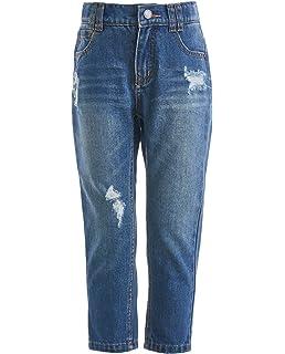 SK-1 Abbigliamento Ragazzi//Bambini//Ragazzi Super Skinny Stretch Ripped Distressed sbiadito Jeans