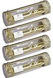 HomeStrap Single Rod Travel Bangle Pouch/Organiser- Set of 4 (Golden)