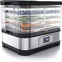 Arendo – Déshydrateur alimentaire avec contrôle de température 260 W - Déshydrateur en Inox pour viande fruits légumes…