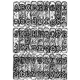 Sizzix 664760 Dossier de gaufrage de Texture 3 D par Tim Holtz Taille Unique Matrices de découpe pour Scrapbooking, Multicolo