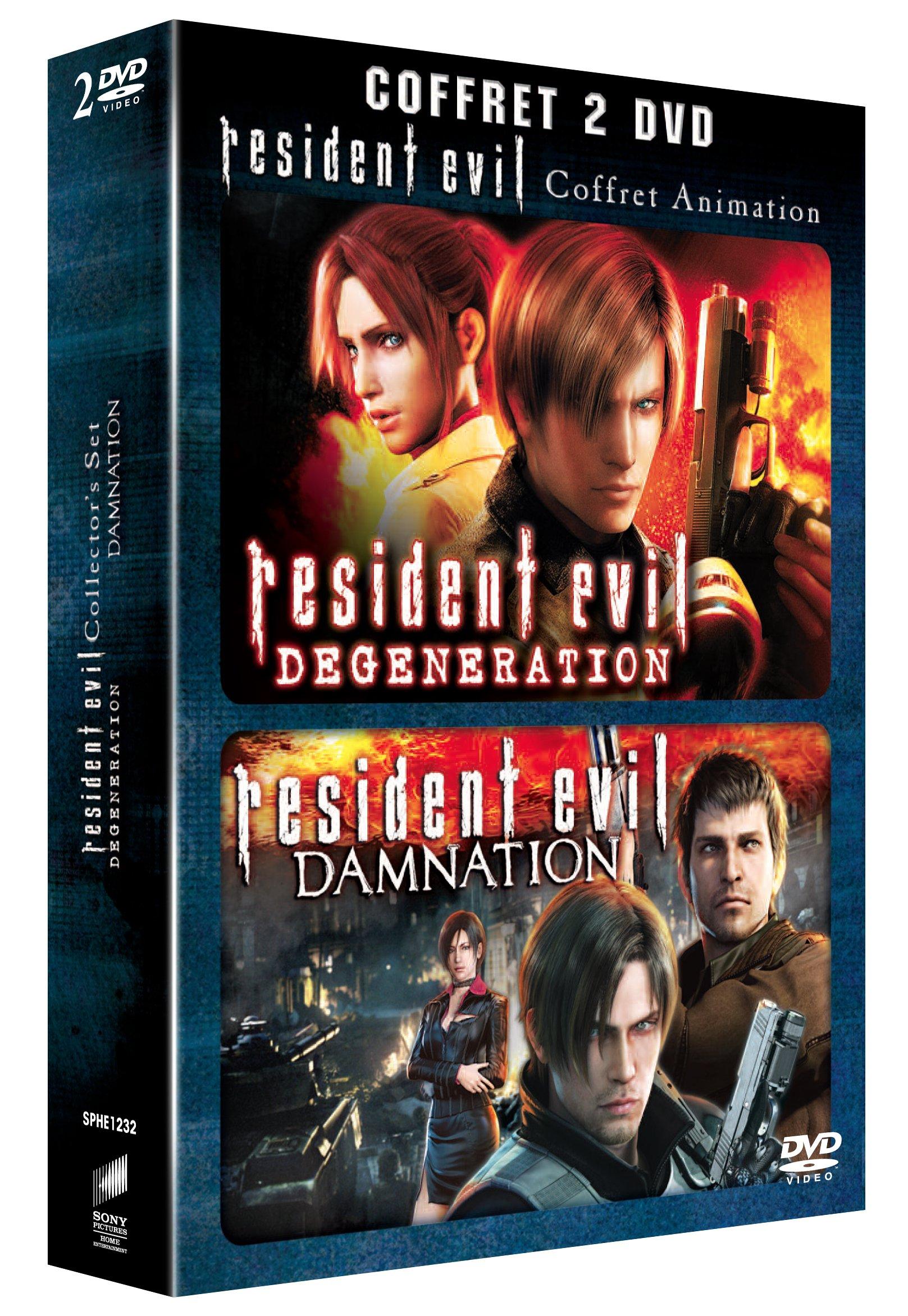 Coffret resident evil : damnation ; resident evil : degeneration [Edizione: Francia]