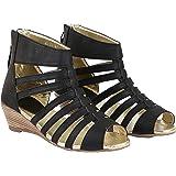 Shoetopia Women's & Girl's Gladiator Peep Toe Wedges Heels