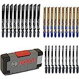 Bosch Professional 30pièces Jeu de lames de scie sauteuse Basic for Wood and Metal (bois et métal, accessoires pour scie sau