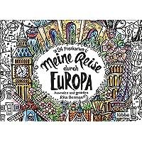 Meine Reise durch Europa: Ausmalen und genießen. 24 Postkarten
