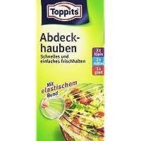 Toppits Abdeckhauben, Elastischer Bund, 3 Größen, Durchmesser 26/20/14 cm, Transparent