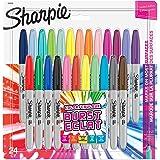 Sharpie marqueurs permanents, pointe fine, Colour Burst & assortiment original, lot de 24