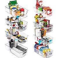KICHLY Bacs de rangement Garde-Manger - Lot de 8 (4 grands, 4 petits bacs) Mettre de l'ordre dans placard cuisine, salle…
