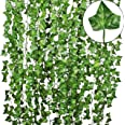 Tdas Artificial Ivy Vine Creeper Plants (Green, Pack of 6)