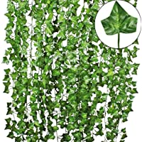 TDas Artificial Ivy Garlands Leaves Greenery Hanging Vine Creeper Plants for Home Decor Door Wall Balcony Decoration…