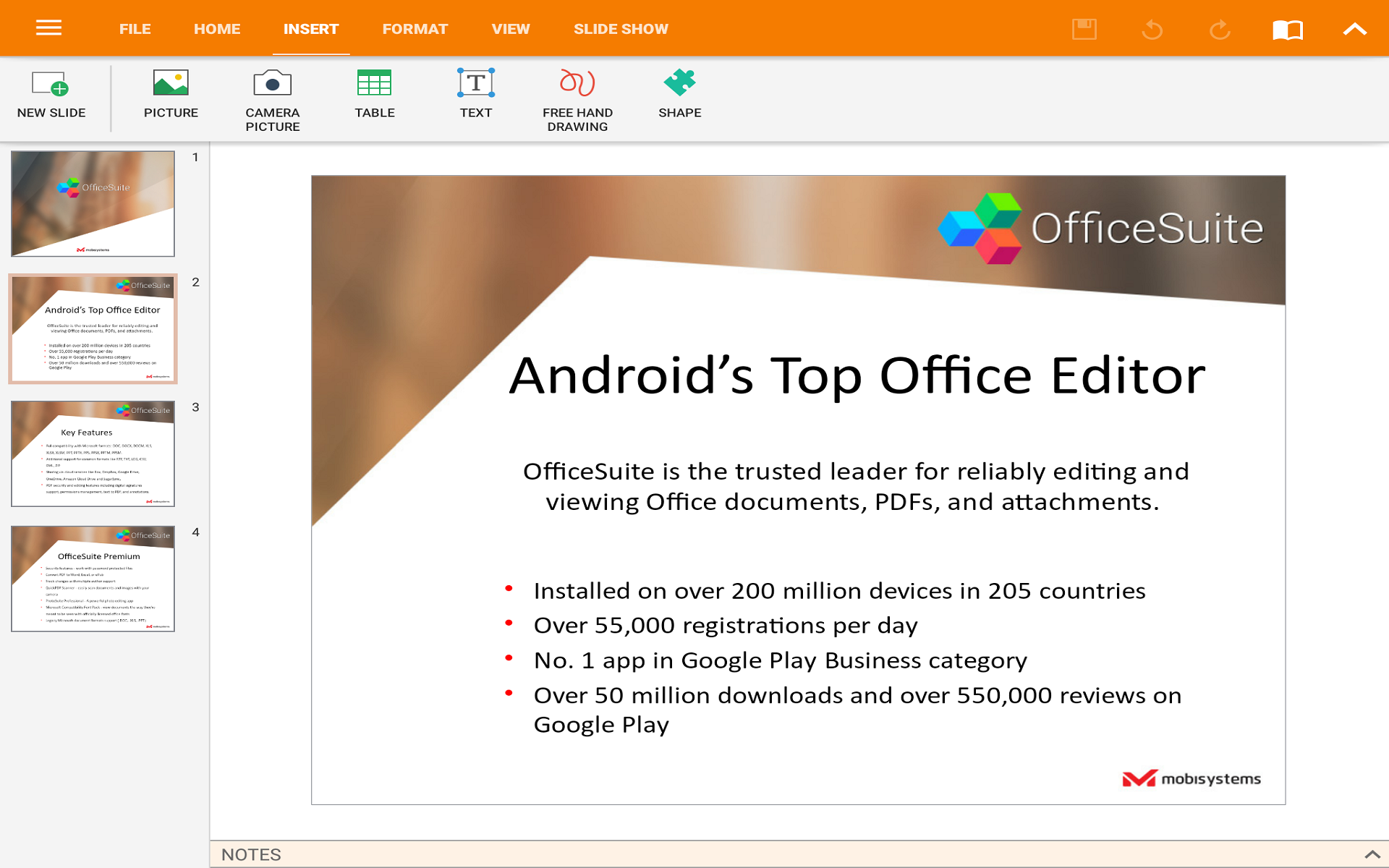 OfficeSuite Professional Screenshot