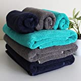 Heelium Bamboo Towel Set (3 Bath & 3 Hand Towel Combo), 600 GSM, Super Absorbent & Soft, Antibacterial (Blue, Grey, Teal…