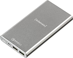 Intenso Powerbank Q10000 externes Ladegerät (mit Quick Charge 3.0 Technologie (10000mAh)) Silber