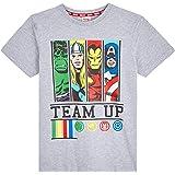 Marvel Camiseta Niño, Camisetas Niño Manga Corta con Superheroes Iron Man Capitan America Hulk y Thor, Ropa Niño de Los Venga