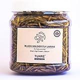 Tunai Black Soldier Larvae Dry Feed for Flowerhorn, Arowana, Oscar and Other Carnivores Fish, 50g