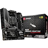 MSI MAG B550M MORTAR - Placa Base Arsenal Gaming (AMD AM4 DDR4 M.2 USB 3.2 Gen 2 HDMI MICRO ATX), AMD Ryzen 5000 Series proce