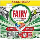 Fairy Platinum PLUS - tacki do zmywarki All-In-One 84 kapsułki cytryna, tabletki do mycia naczyń, tabletki do naczyń w opakow