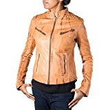 A to Z Leather Giacca montata Stile Stile Biker da Donna Vintage. Disponibile in Design in Pelle e Pelle di Coccodrillo.
