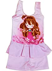 Kids Girls Swim Suit Cute Baby Doll Princess Cartoon (Swimming Costume Swimwear)