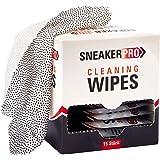 SneakerPro Cleaning Wipes feuchte Reinigungstücher für Sneaker/Schuhe/Kleidung [15 Stk. einzeln verpackt, Glatte & strukturierte Seite für groben Schmutz] - SNKRWPS15