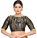 STUDIO Shringaar Women's Brocade Stitched Saree Blouse.
