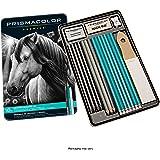 Prismacolor 24261 Premier Graphite Drawing Pencils with Erasers & Sharpeners, 18-Piece Set