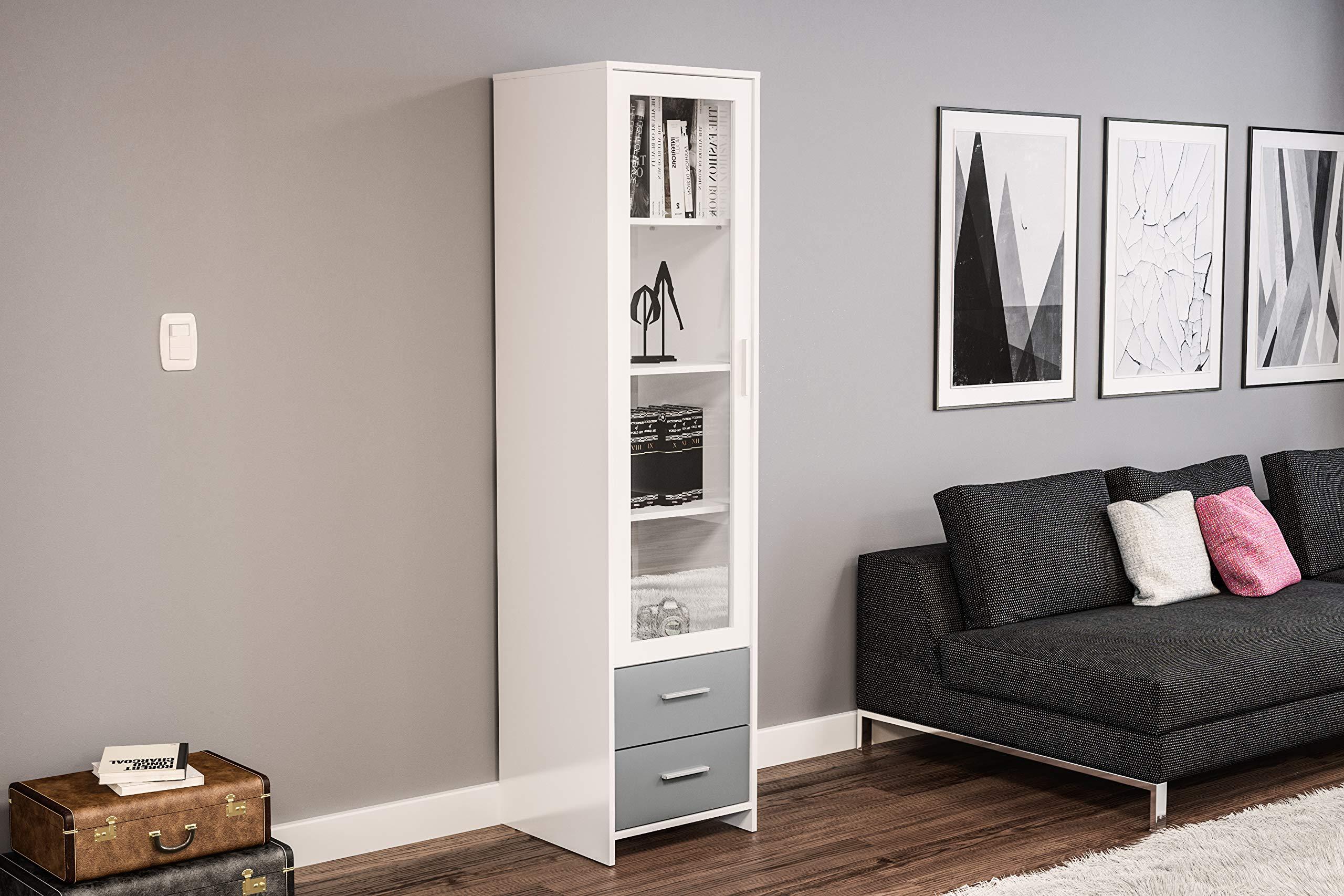 Birlea, Edgeware Glass Door Cabinet, White