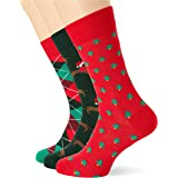 HS by Happy Socks Holiday 3-Pack Socks Calcetines, Multi, 41-46 para Hombre