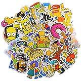 Cartoon Sticker Pack (50Pcs) The Simpson Waterproof Vinyl Stickers for Water Bottles,Laptop,Kids,Cars,Motorcycle,Bicycle,Skat