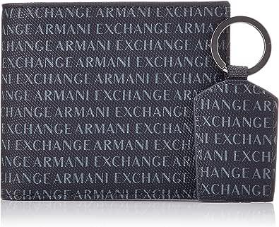 Armani Exchange Wallet And Keyring Set - Portafogli Uomo