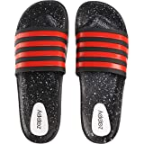 Zappy Men's and Boy's Silicon Rubber Soft Foot bed Slippers | Flexible Flip Flop | Outdoor -Home Wear Sliders