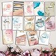 WeddingTree 52 Postkarten Hochzeit - Postkarten Set A6 - für 52 Wochen - kreatives Hochzeitsspiel Gästebuch Gastgeschenk (Aqu