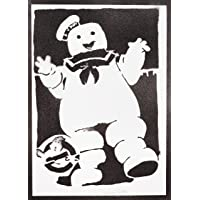 Poster Acchiappafantasmi Marshmallow Ghostbusters Handmade Graffiti Street Art - Artwork
