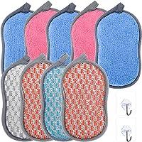 ZITFRI 9 Pcs Eponge Lavable Eponge Vaisselle Reutilisable 3 Couleurs Eponge a Recurer en Microfibre pour Nettoyer…