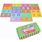 Puzzlestar XXL, Tapis Puzzle de 86 pièces pour Enfants en EVA antidérapant - Le Grand Tapis de Jeu Peut être monté, Chaque pi