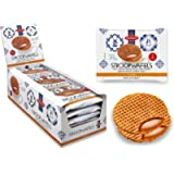 Daelmans Stroopwafels | Caramel Stroopwaffle | Caramel Wafers - 78 g x 18 in a Box - Warm it up on Your Cup - Great for…