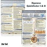 Hypnose Quickfinder I & II Duo-Set komplett (2018): - Die komplette Sitzung & Die wichtigsten Interventionen und Techniken - Schritt-für-Schritt in ... zuverlässig hypnotisieren (DINA4, laminiert)