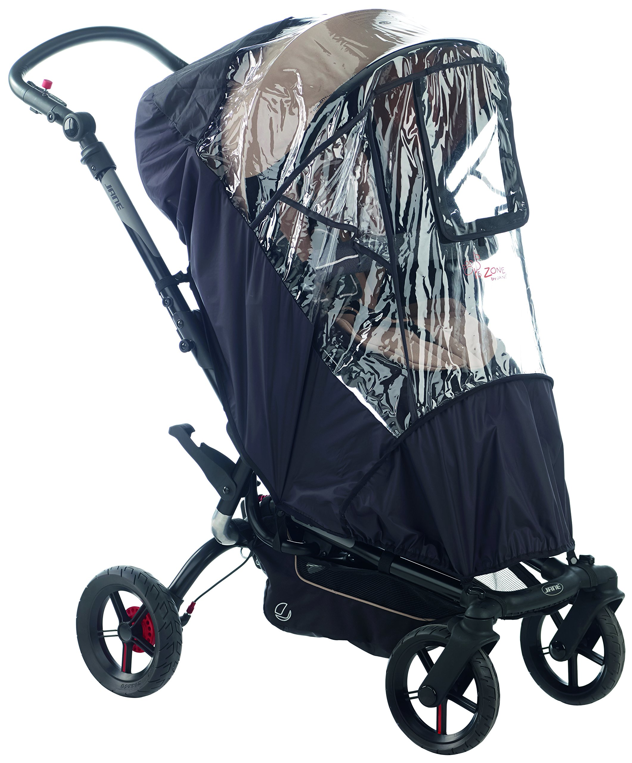 Jane Raincover for Pushchair (Unv/Nylon) Jane, Inc. Universal fitting - should fit most Pushchairs with a hood on the market Jane models we have confirmed it fits on are: Muum, Epic, Twone Single, Rider, Trider and Trider Extreme This raincover is a quality accessory that is reinforced to prolong its life 2