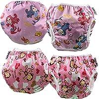 fakiku Pannolino Costumino Contenitivo, 0-36,Pannolini Nuoto Regolabile Lavabile E Riutilizzabile,Costume per Piscina E…