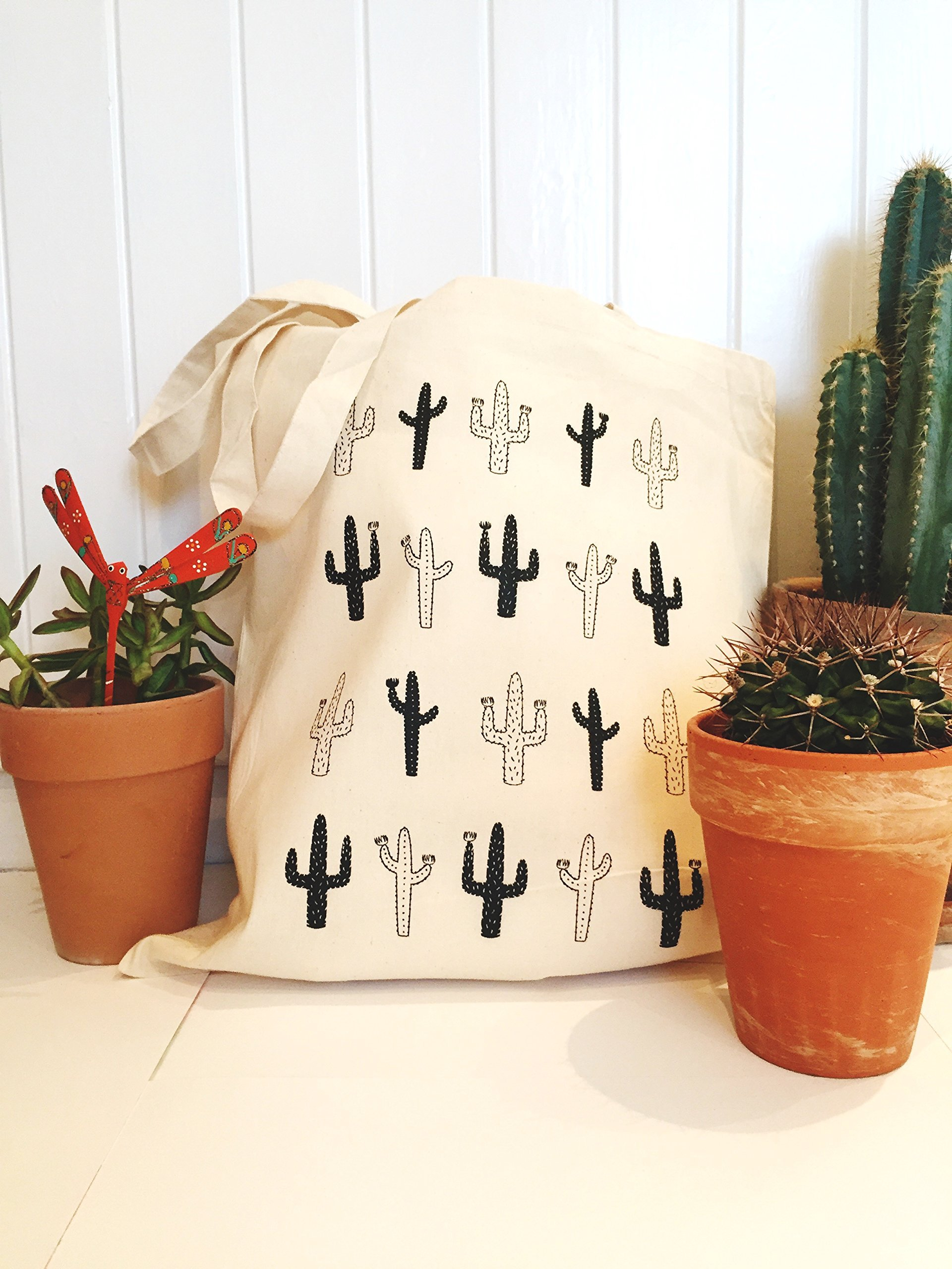 Cactus Tote Bags | Perfect for Wedding Favors, the gym, shopping or carrying around your university books. - handmade-bags
