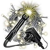 Nipach GmbH 200er LED Lichterkette Innen und Außen grünes Kabel Weihnachtsbeleuchtung (warmweiß)