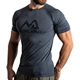 Natural Athlet Fitness T-Shirt for Men - Long Quick-Drying Gym Slim Fit T-Shirt - Strengthening and Sports