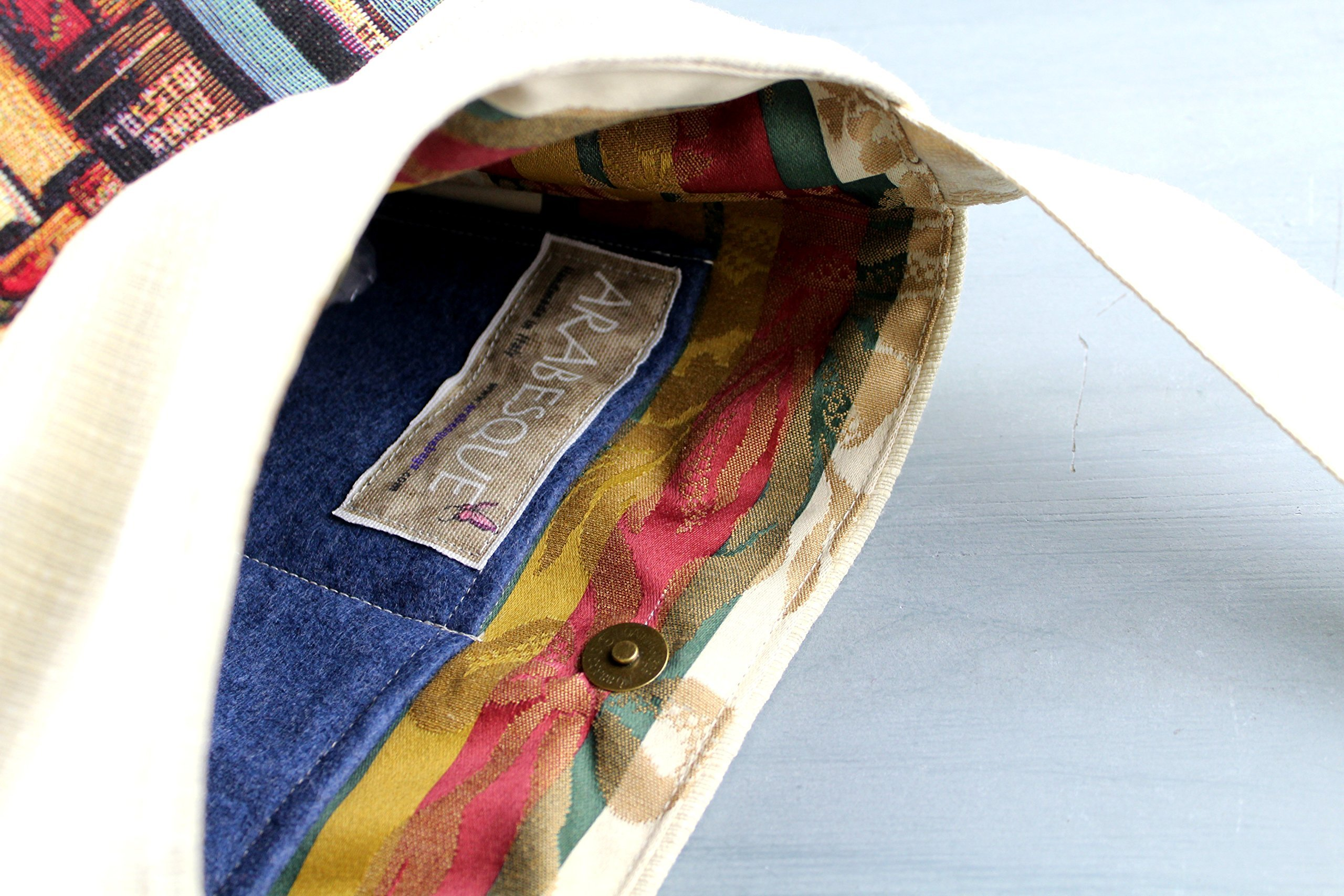 Blue book Lovers Shoulder bag - Handmade - Gobelin - handmade-bags