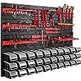 115 x 78 cm wandrek 30 opbergbakken deksel gereedschapshouder stapelboxen werkplaats werkbank