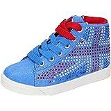 LULU' Sneaker Bambina Tela Blu