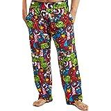 MARVEL Mens Pyjamas, Avengers Lounge Pants Men with Captain America Iron Man Thor and Hulk, 100% Cotton Nightwear Mens Pjs Bo