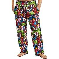 MARVEL Mens Pyjamas, Avengers Lounge Pants Men with Captain America Iron Man Thor and Hulk, 100% Cotton Nightwear Mens…