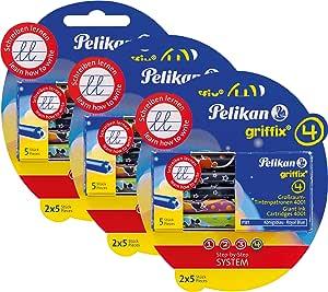 Pelikan 4001 Griffix Großraum Tintenpatronen 6 X 5 Stück Blisterpackung 30 Patronen Gesamt Bürobedarf Schreibwaren